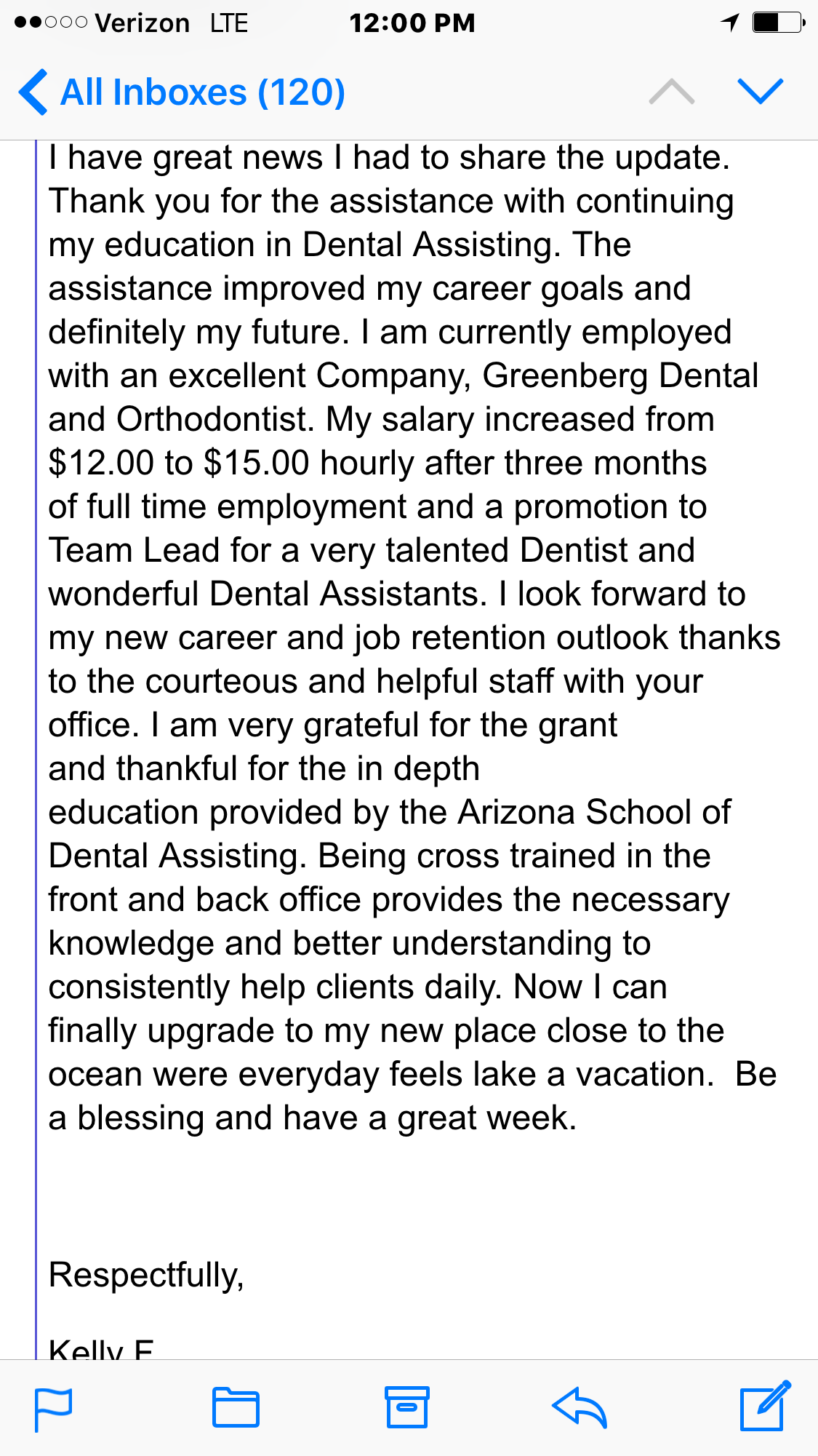 Testimonials From Our Dental Assistant Students